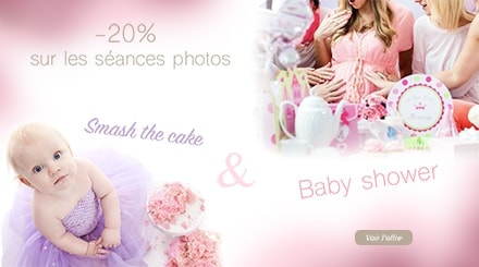 participez au lancement des seances photos smash the cake et baby shower